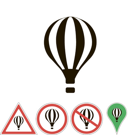 white pointer: sign aerostat on white pointer