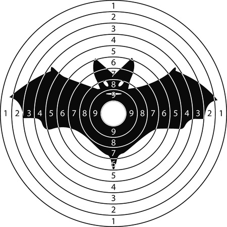 shooting target bat for the shooting range small arms made in the vector Illustration