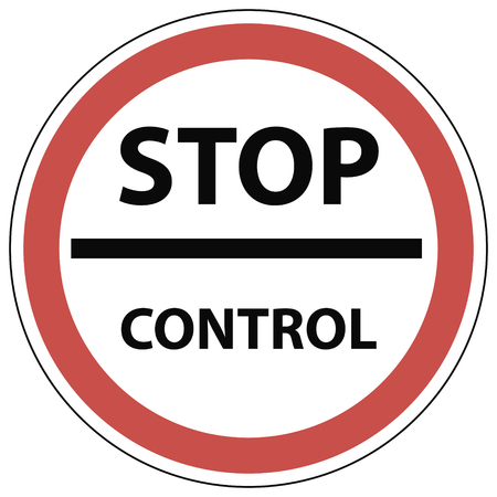 Sign stop control, the customs checkpoint in vector for print or design Illustration