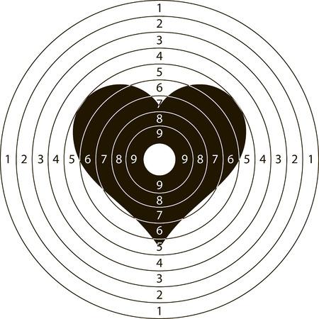 撮影ターゲット heartfor ベクターは、撮影範囲の小型武器  イラスト・ベクター素材