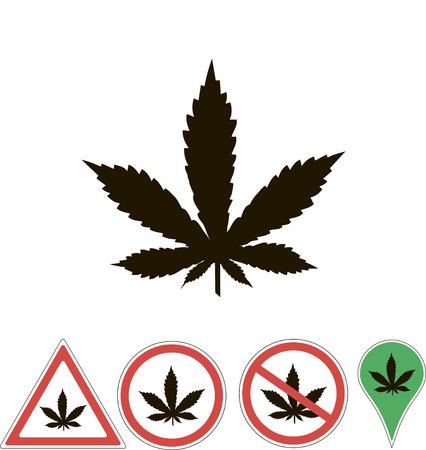 sign medical cannabis on white Illustration