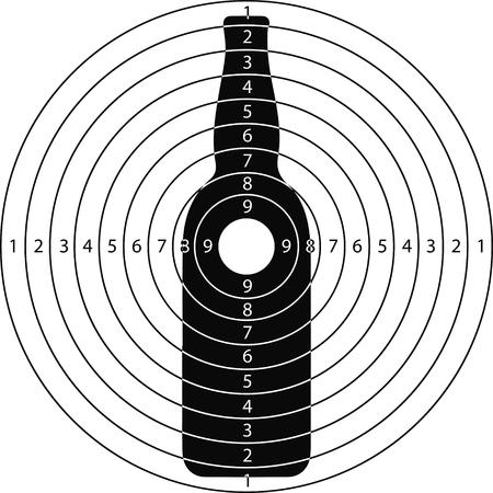 disparar botella objetivo para el campo de tiro de armas pequeñas hechas en el vector