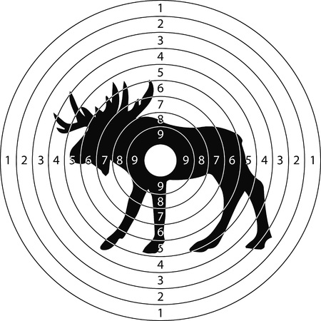 black hole: shooting target moose for the shooting range small arms made in the vector