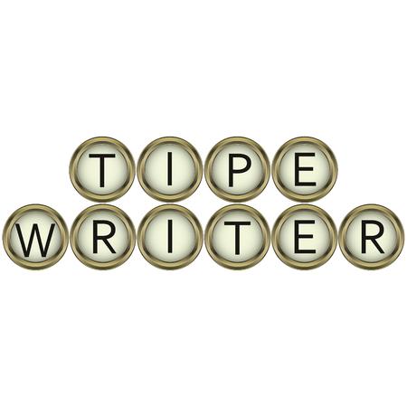 Boutons de machine à écrire de mots de machines à écrire vintage en vecteur pour impression ou conception Banque d'images - 64320869