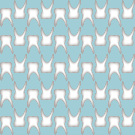 incisor: seamless teeth pattern on a pleasant blue background easy to edit color , print or design Illustration