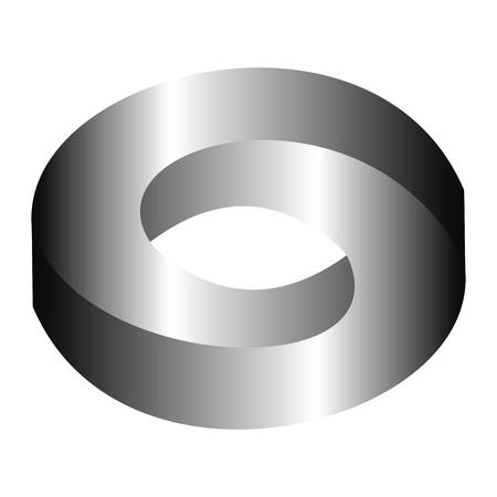 Impossible Circle Sign. Abstract ontwerp, onmogelijke figuur.