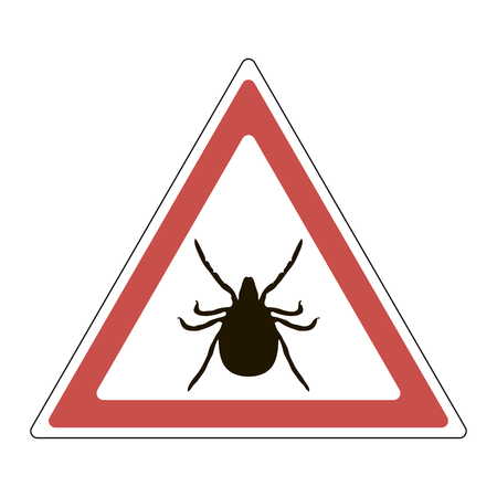lyme disease: Warning sign - a tick, vector, for print or design