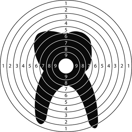 shooting target: shooting target toothfor the shooting range small arms made in the vector