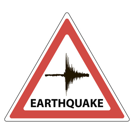 triangle sign seismology meaning, the tremors of the earthquake, vector