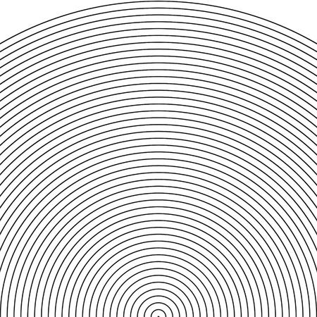 sonar: set arco - sonar, il settore di cerchio, modello Cerchio con linee dinamiche e irregolari. modello circolare geometrico con l'irradiamento, convergenti cerchi vettore Vettoriali