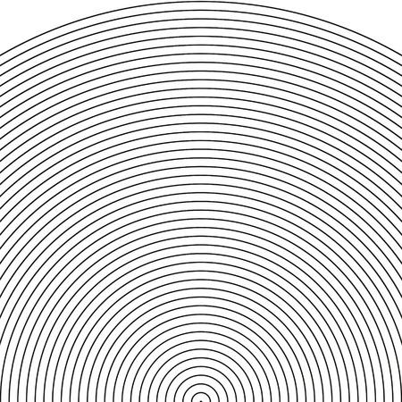 sonar: set arco - sonar, il settore di cerchio, modello Cerchio con linee dinamiche e irregolari. modello circolare geometrico con l'irradiamento, convergenti cerchi vettore Archivio Fotografico