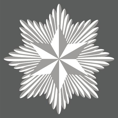 cockade: Template heraldry cockade, the cockade consists of swords in a circle and hexagonal star of David , vector
