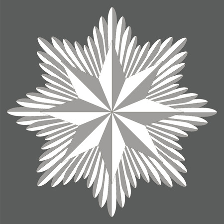 editorial: Template heraldry ade, the ade consists of swords in a circle and star eight pointed badge , vector