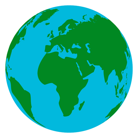 gaia: Vector watercolor painted Illustration of environmentally friendly World map. Think Green. Ecology Concept. Globe water colour vector image.