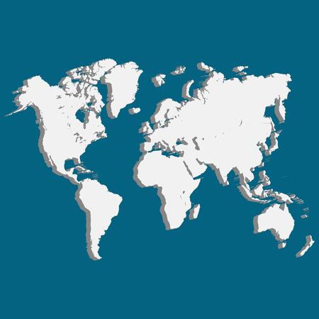 wold map: Wold Map with USA Europe Africa the Americas and Asia as an international symbol of global communications as a three dimension Vector illustration of an earth model.