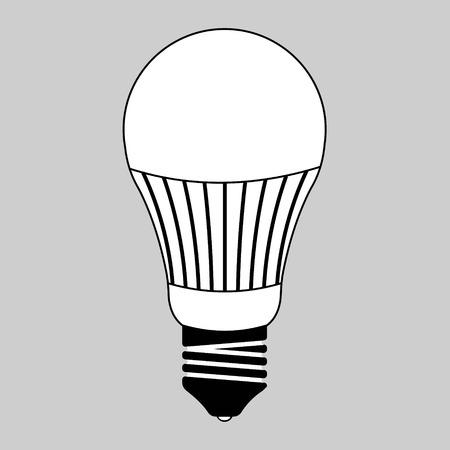 coolant: led light bulb, energy saving light bulb led glass, vector