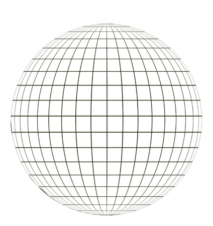coordinate: globe with a coordinate grid, latitude and longitude on a sphere pattern globe angering the application of the coordinate vector template