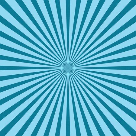 Rays, beams element. Radiating, radial, merging lines Abstract circular geometric shape. Sunburst, starburst shape on white. Vector blue pattern background