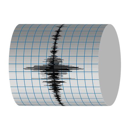seismograph: seismograph record seismic vibrations of the earthquake on the Richter scale, seismogram vector