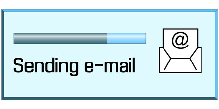 process of sending emails, the window displaying process of sending e-mails, vector 矢量图片