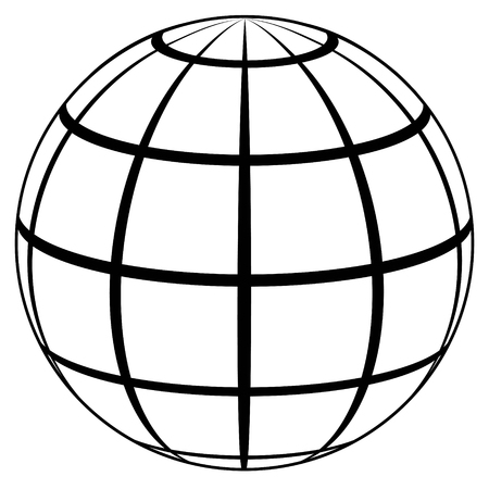 globe planet high quality icon sphere with lines on the surface rh 123rf com vector sphere grid vector sphere