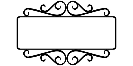vintage wrought iron frame, the template for the signs of an Internet store, retro style, vector frame template