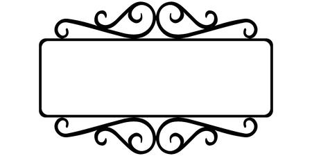 Vintage Schmiedeeisen Rahmen, die Vorlage für die Zeichen eines Internet-Shop, Retro-Stil, Vektor-Frame-Vorlage Vektorgrafik