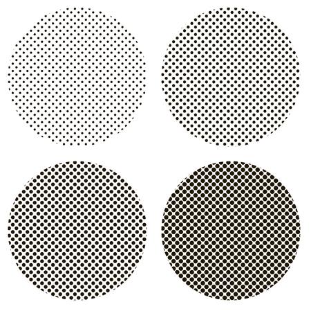 Circle dots pattern pop art vector. Illustration