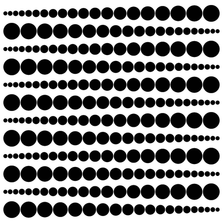 Geometric pattern widening circles from point to a circle pattern. Illustration