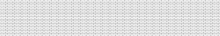 Panorama black and white structural brick seamless wall. Panoramic Solid Surface. Vector Illustration template banner header website