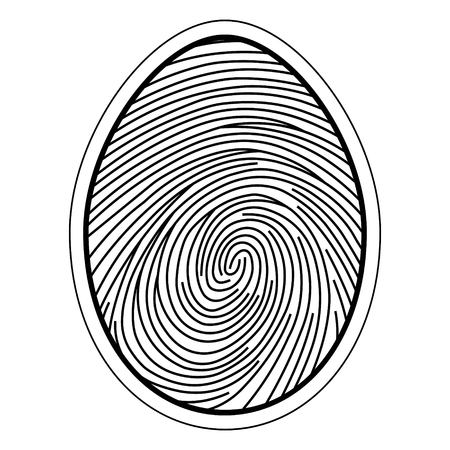 Fingerprint image of the finger curls of the capillaries, vector concept identification and security data storage. Illustration