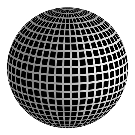 3D disco ball mirror ball vector for the light and music of the discos