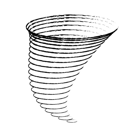 tornadoes: Icon cyclone tornadoes in the linear flat style. vector illustration