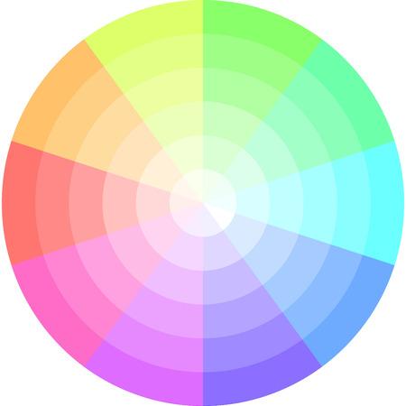 palette of pastel colors, vector pie chart