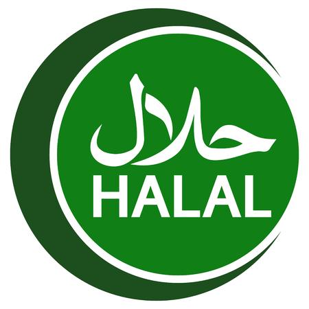 halal logo emblem, vector Halal sign certificate tag