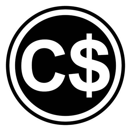 currency symbol Canada, canadian dollar vector dollar sign
