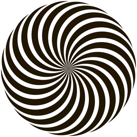 Spiral circular pattern Lollipop twisted rays vector pop art style. Illustration