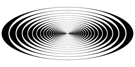 concentric circle oval resonance waves, the vector visual representation of resonance waves