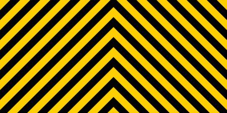 hazard stripes: warning striped rectangular background, yellow and black stripes on the diagonal in different directions, a warning to be careful - the potential danger the size of the load vector sign template Illustration