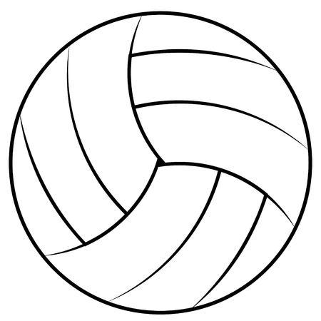 Ilustración De Contorno De Voleibol Aislado En El Fondo Blanco ...