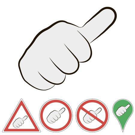 Sign of hitchhiking Illustration
