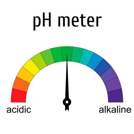 PH meter icon. Illustration