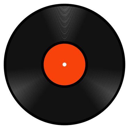 Realistic retro vinyl gramophone record disk, vector lp template vintage vinyl gramophone record disk to design a music Studio
