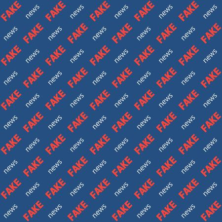 defuse: Background fake news the word diagonal text, vector seamless pattern for video blog substitution Chroma Key, seamless pattern background fake news for television, vlog Illustration