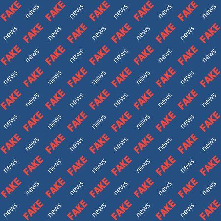 Noticias falsas de fondo el texto diagonal de la palabra, patrón transparente de vector para la sustitución de video blog Chroma Key, noticias falsas de fondo de patrón transparente para televisión, vlog Foto de archivo - 89106016
