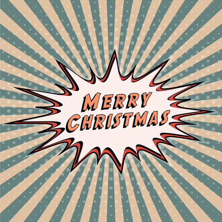 Congratulatory banner Merry Christmas.