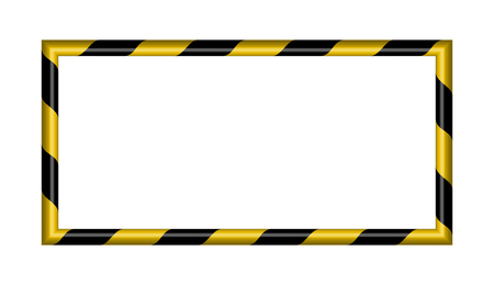 3d warning striped rectangular background, yellow and black stripes on the diagonal, warning to be careful potential danger vector template sign border yellow and black color.