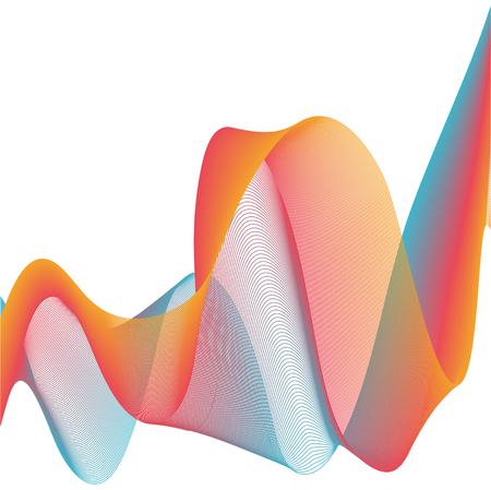 Abstract template background with music sound wave design, Rainbow Lines Design.Vector blend colorful lines abstract for posters, header banner.