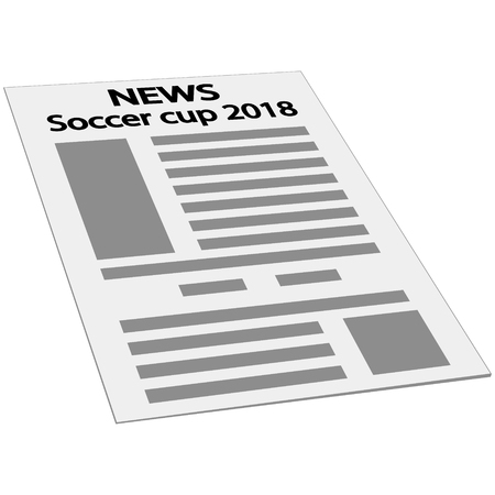 newspaper news cover page icon, vector mockup template first page news. Vettoriali