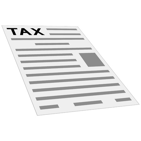 tax form the payment icon, concept, layout, template, first page of tax return, isometric perspective, flat style clipart
